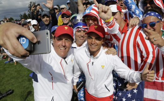Phil Mickelson Rickie Fowler Presidents Cup