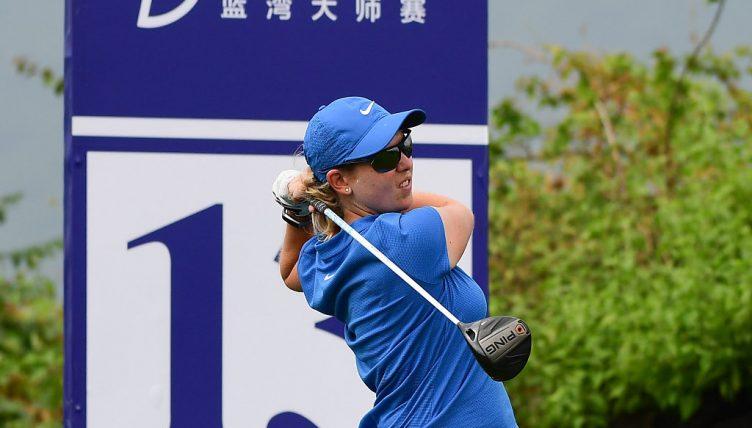 "Ashleigh Buhai leads Blue Bay LPGA by 1 stroke"""