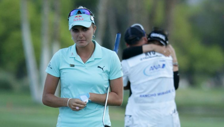 Lexi Thompson smiling again at ANA; Pernilla Lindberg leads
