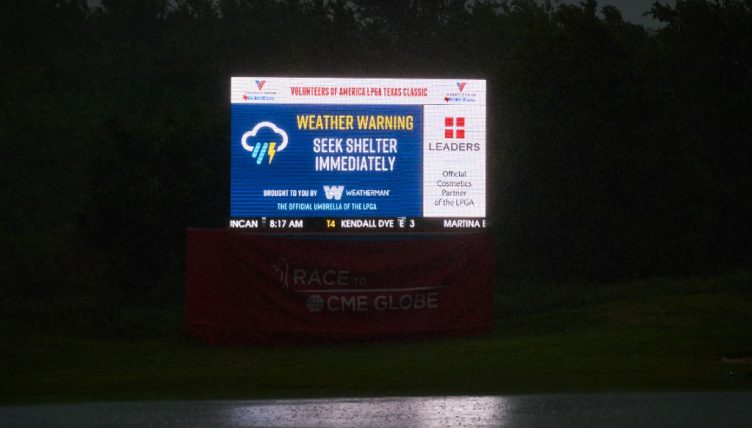 Boutier clubhouse leader as weather trims LPGA Texas Classic to 36 holes