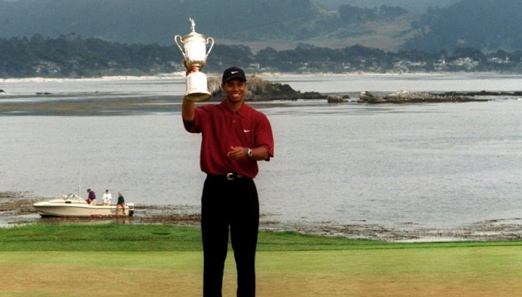 tiger woods walks down memory lane at pebble beach