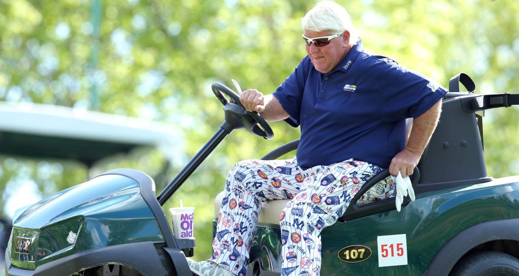 John Daly on cart