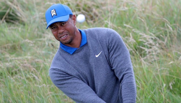 Tiger Woods in jovial meed
