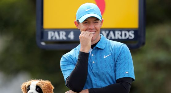 Rory McIlroy smiling