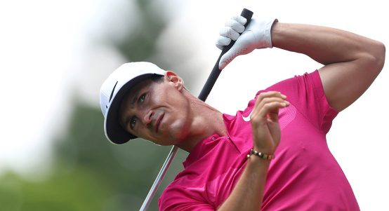 Thorbjorn Olesen looking on