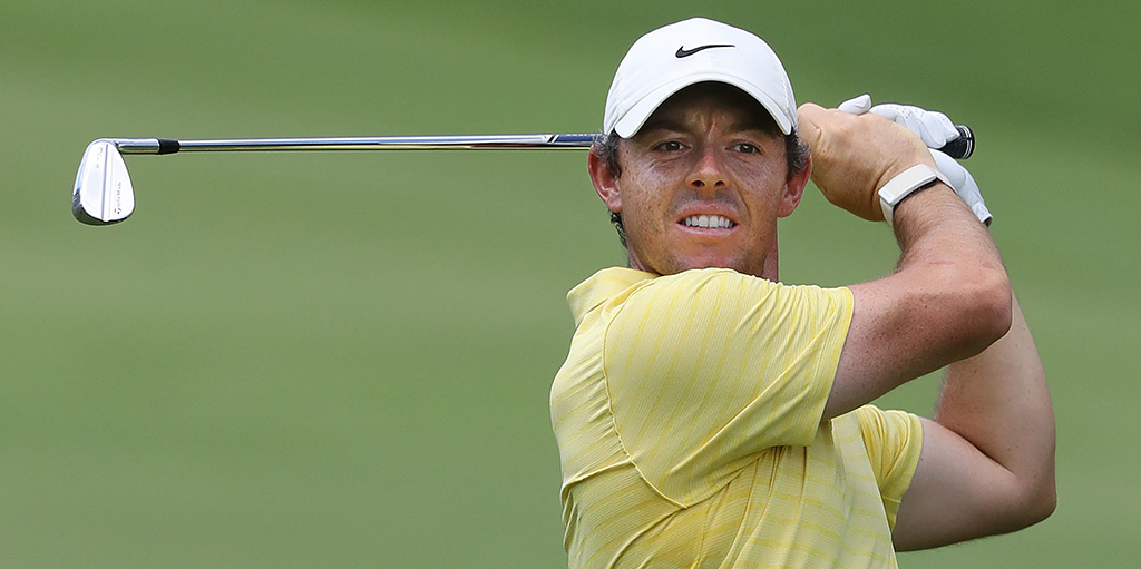 Rory McIlroy looking on at Tour Championship