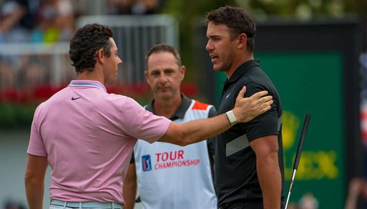 Rory McIlroy and Brooks Koepka at FedEx Cup