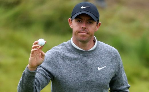 Rory McIlroy with golf ball