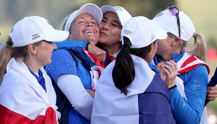 Europe celebrate winning Solheim Cup