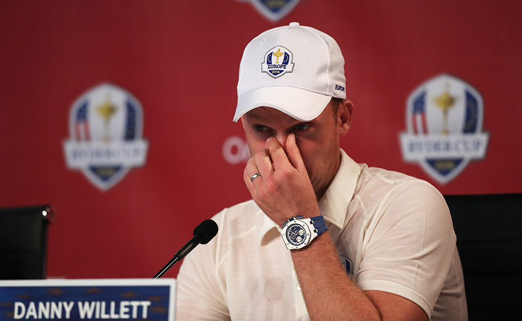 Danny Willett at Ryder Cup