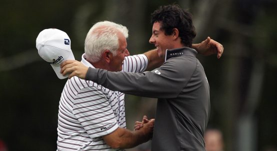 Rory McIlroy with father Gerry