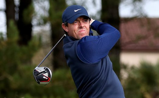 Rory McIlroy looking displeased