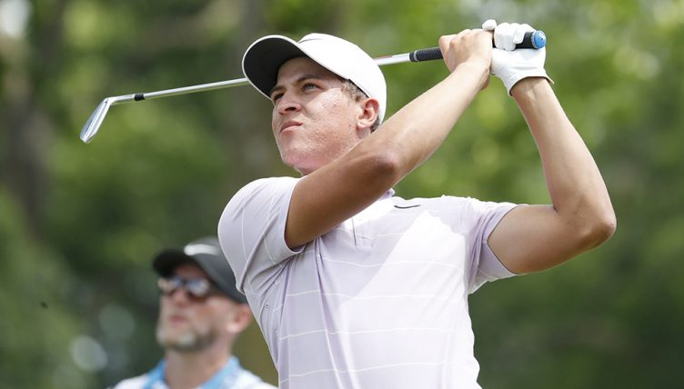 Cameron Champ teeing off
