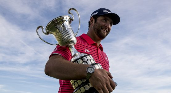 Jon Rahm with Open de Espana trophy