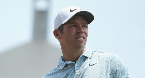 Paul Casey looking on