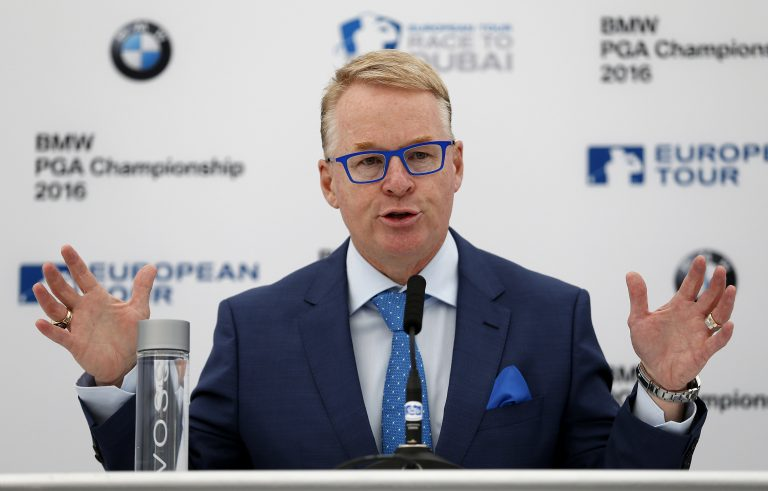 European Tour chief executive Keith Pelley did not give anything away about the Ryder Cup