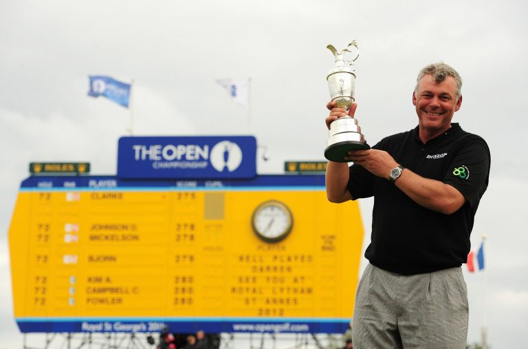 Darren Clarke claimed his first major title at the 2011 Open