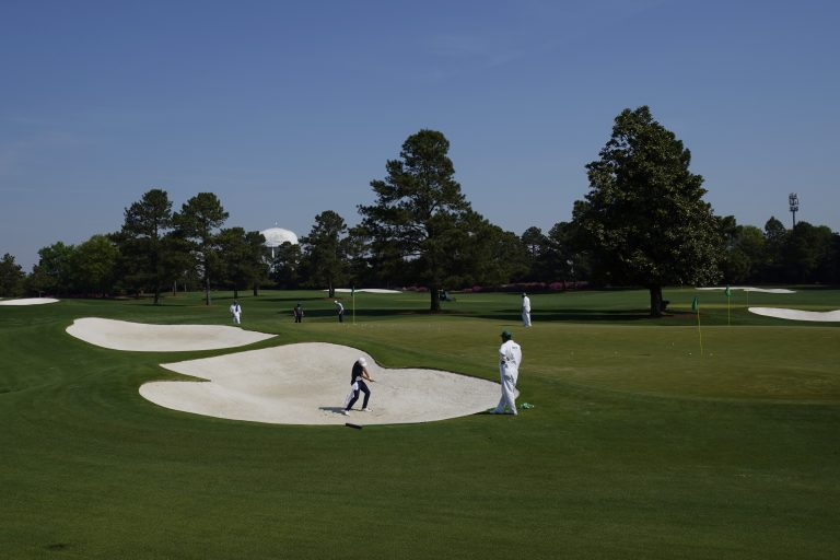 It will be warm with a chance of showers at Augusta