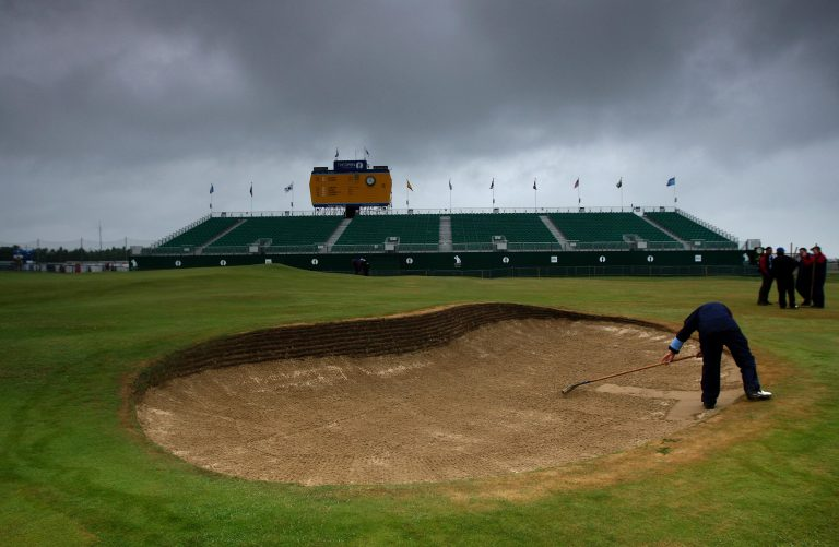 Royal St George's will hold up to 32,000 each day the Open