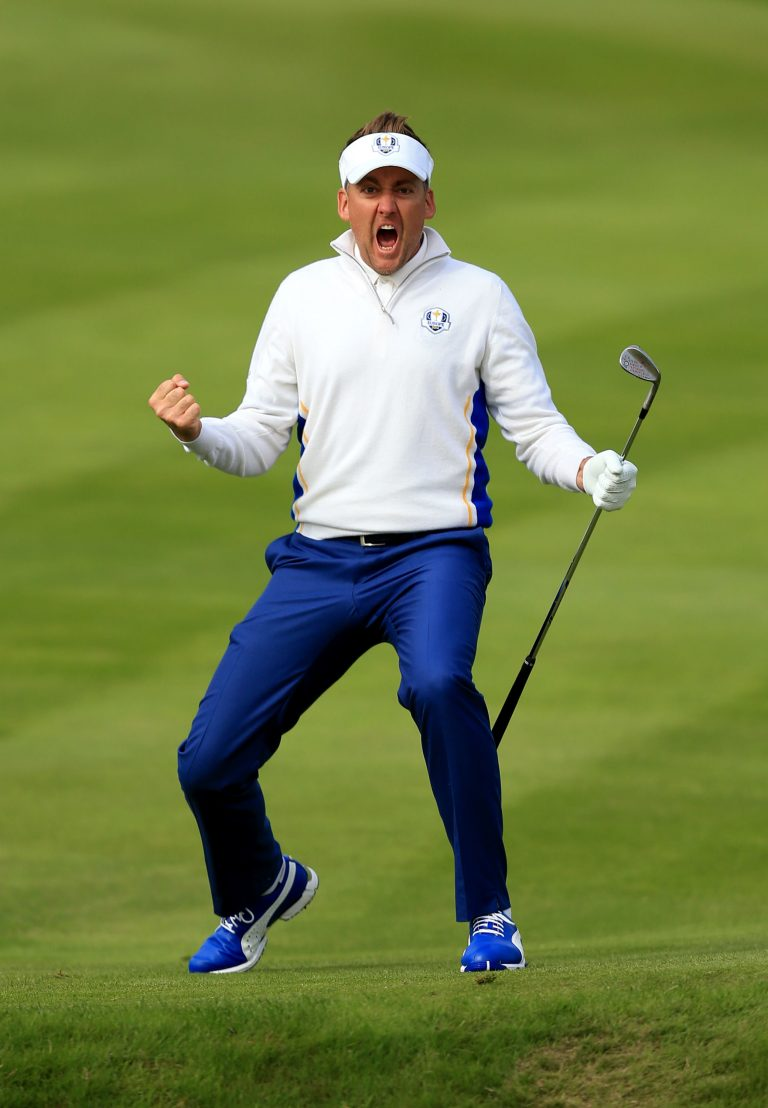 Ian Poulter in action